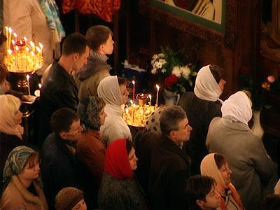 Пасхальное богослужение в Вознесенском соборе