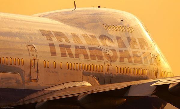 Самолёт авиакомпании Трансаэро