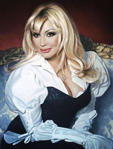 Маша Распутина. Фрагмент картины Дмитрия Карпухина. Фото с сайта www.karpuhin.ru