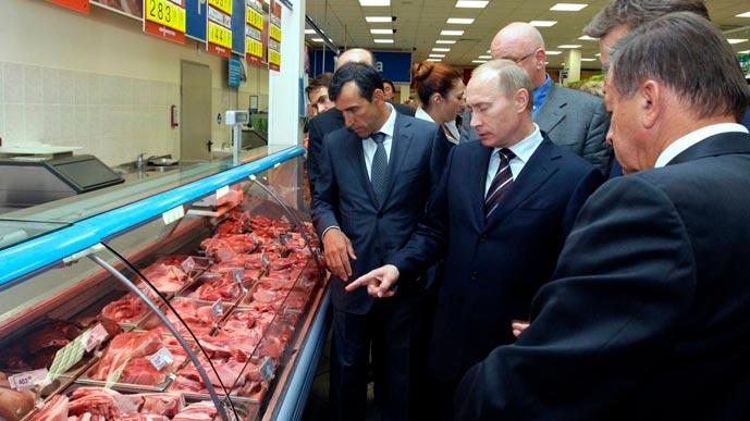 Премьер Путин проверил цены в «Перекрёстке»