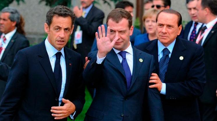 G8: Саркози, Медведев, Берлускони