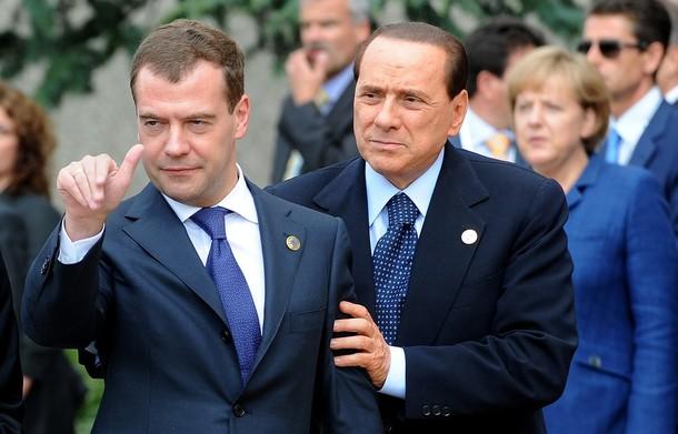 Саммит G8. Саркози, Берлускони и странный Медведев. Фото западных информационных агентств
