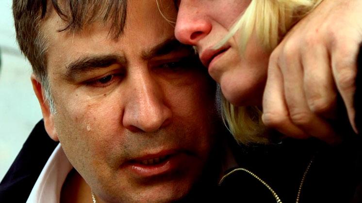 Плачущий Саакашвили