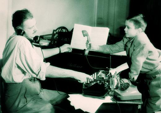 Сергей Михалков и Никита Михалков