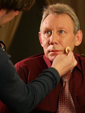 Михаил Грубов на съёмках клипа «Шереметьево 2»