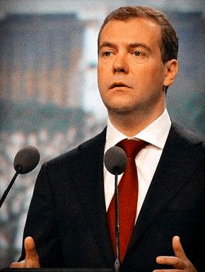 Дмитрий Медведев на Петербургском международном экономическом форуме 17 июня 2011 года. Фото пресс-службы Президента России / www.kremlin.ru