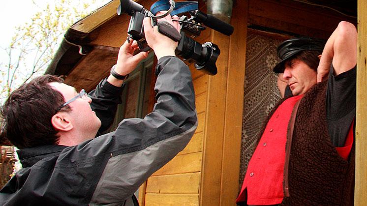 На съёмках клипа «Провинциалочка»