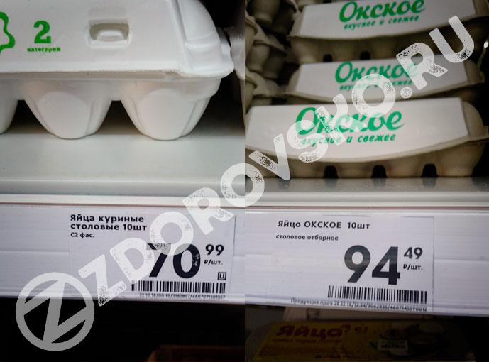 Сколько стоят яйца 28 декабря 2018 в Москве